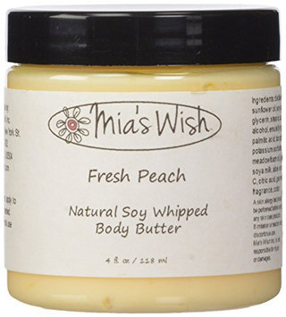Mia's Wish Fresh Peach Natural Soy Whipped Body Butter