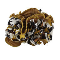 Uxcell Tinsel Decor Leopard Pattern Ladies Ponytail Holder Hairband