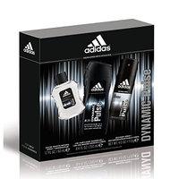 Adidas Personal Care Dynamic Pulse 3 Piece Gift Set (8.4 Ounce Body Wash Plus 1.7 Ounce Eau De Toilette Plus 4 Ounce Body Spray)