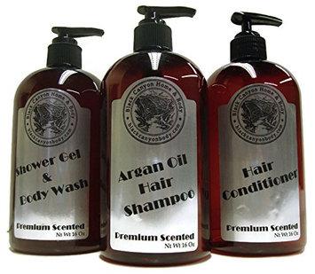 Black Canyon Shower Set (16 Oz Argan Oil Shampoo