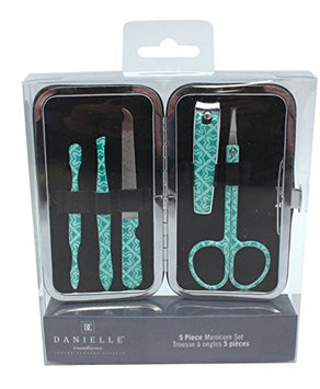 Danielle Enterprises Moroccan Mirage 5 Piece Manicure Set with Carrying Case