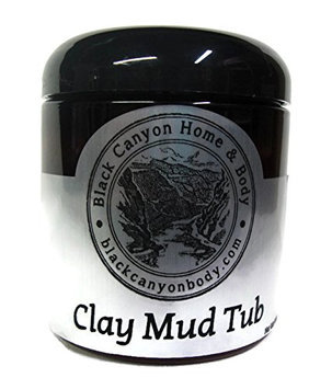 Black Canyon Body Clay Mud Tub / Bentonite Clay Mud Mask (Regular Jar 10 Ounce)