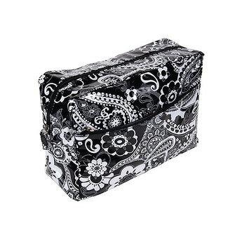 Harry D Koenig & Co Cosmetic Bag In Black Paisley