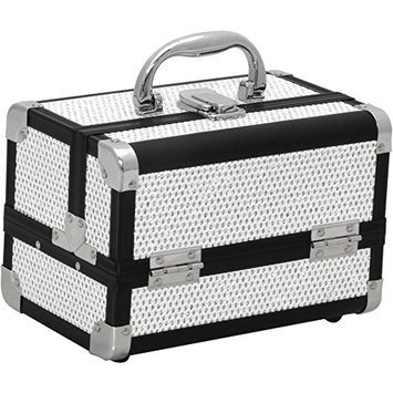 JustCase M1001 Mini Makeup Cosmetic Train Case Organizer Storage