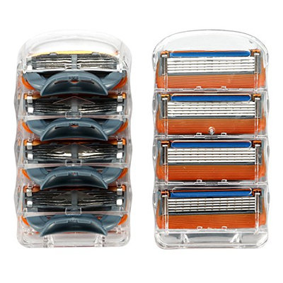Manual Men's Replacement Razor Blade Refills Compatible for Gillette (8 Count)