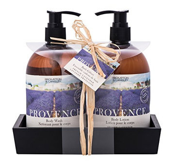 Upper Canada Soap Brompton and Langley Exotic Retreats Hand/Body Wash and Lotion Caddy Gift Set