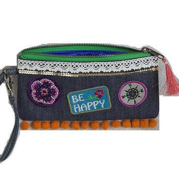 Natural Life Patch Simple Wristlet Bag