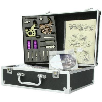 Complete Tattoo Kit 6 Guns Tattoo Machine with Liner Shader Gun Power Supply Ink more T06