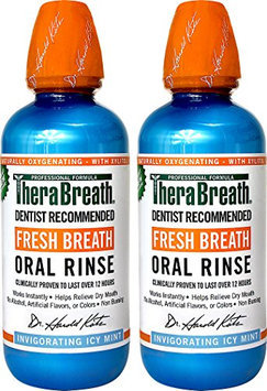 TheraBreath Dentist Recommended Fresh Breath Oral Rinse - Icy Mint Flavor