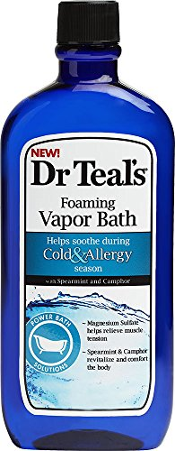 Dr. Teal's Cold and Allergy Foaming Vapor Bath