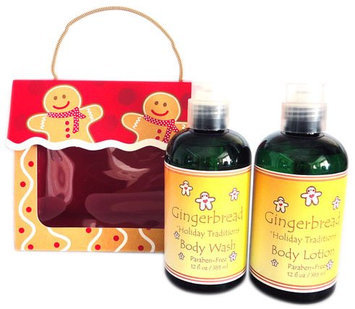 Naturally Pampered Warm Gingerbread Bath and Body Gift Set