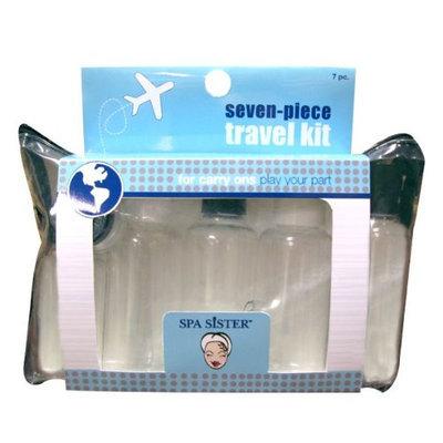 Bath Accessories 7 Piece Spa Products Travel Set