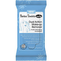 Bamboo Towelette Works Dual Action Make-Up Remover Moist Cleansing Towelette
