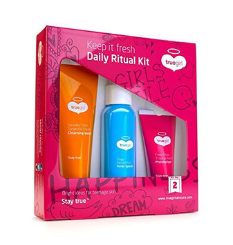 True Girl Skin Care Daily Ritual Teen Cleansing Moisturizer and Toner Splash Kit