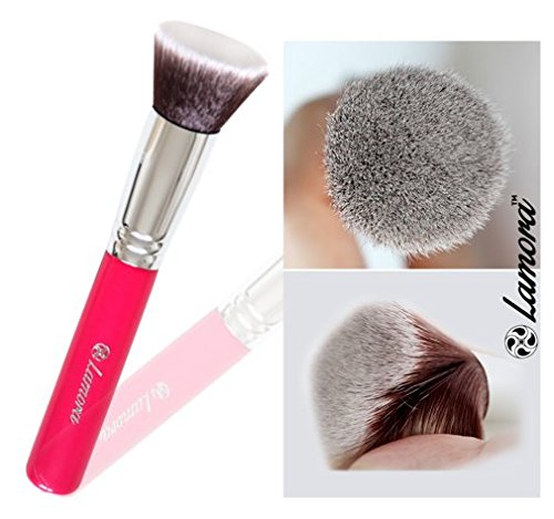 Foundation Brush Flat Top Kabuki for Face Makeup - Perfect For Blending Liquid