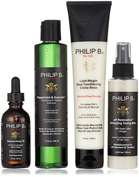 PHILIP B Four Step Hair and Scalp Treatment Set with Paraben Free Formula Conditioner