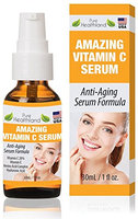 Best Vitamin C Serum For Face and Neck. Anti Wrinkle Serum Anti Aging Serum Facial Skin Care. Helps Fade Dark Spots and Smooth Wrinkles For Youthful Glow. Organic Vitamin C + E + Hyaluronic Acid Serum