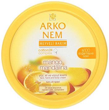 Arko Nem Mango and Mandarin Cream Face Hand and Body Cream