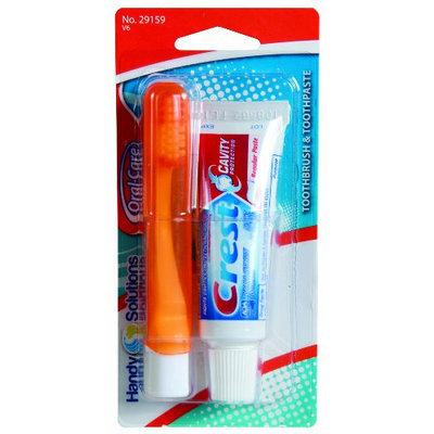 Handy Solutions Folding T/brush W/ Crest T/paste Travel Kit