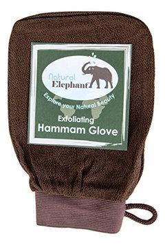 Natural Elephant Exfoliating Hammam Glove - Face and Body Exfoliator Mitt (Chocolate Brown)