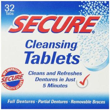 Denture Cleanser 32 Tab By Secure Denture Adhesive (1 Each)