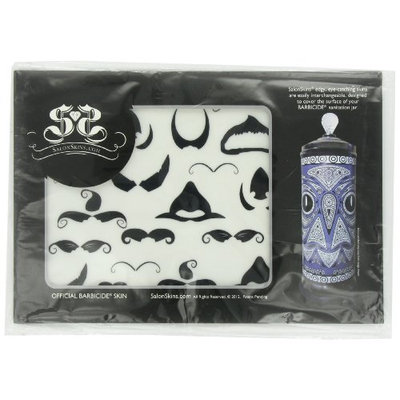 Salon Skins Decorative Barbicide Jar Wrap Mustachio