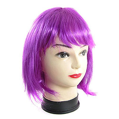 Uxcell Fiber Flat Bang Bob Style Synthetic Hairpiece