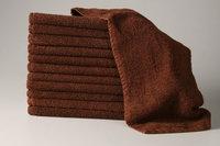 6 Dozen 100% Cotton Salon Towels Gym Towels Hand Towel 72-Pack Brown- (16