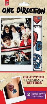Tempt Tattous 1 Direction Temporary Glitter Tattoo