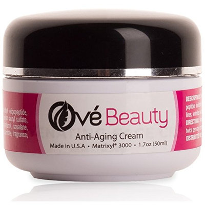 Ove Beauty Anti Aging Rejuvenating Face Moisturizer with Retinol + Peptides including Matrixyl 3000-Made in USA-LOVE the results or Your Money Back.
