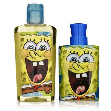 Nickelodeon Spongebob Squarepants 2 Piece Gift Set for Men (Eau de Toilette Spray Plus Body Wash)
