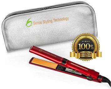 6th Sense Professional Flat Iron Hair Straightener w/Diamond & Tourmaline Infused 1