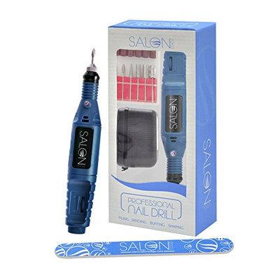 Acrylic BLUE Nail Art Drill KIT Electric FILE Buffer Bits Portable Salon Machine