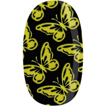 Skinz Nail Decals 24 Count Yellow Butterflies