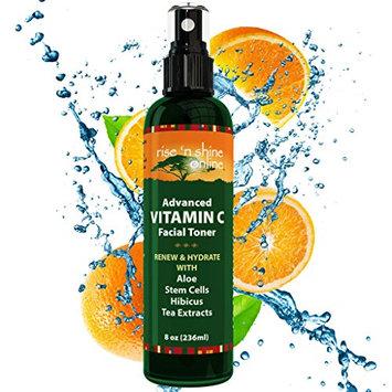 8 Oz Organic Vitamin C Facial Toner - FREE EBOOK - 100% All Natural Anti Aging Pore Minimizer for Face