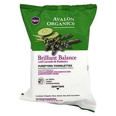 Avalon Organics Brilliant Balance Purifying Towelettes
