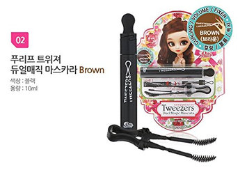 Tweezers Duel Magic Mascara - Brown