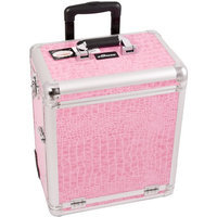 Sunrise Interchangeable Professional Rolling Makeup Case with Split Drawers