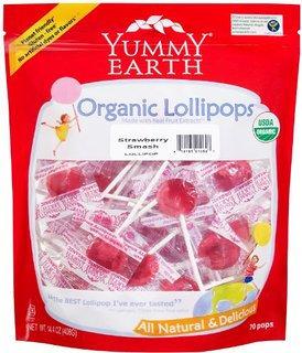 Yummy Earth Organic Candy Drops Gluten Free Strawberry Smash