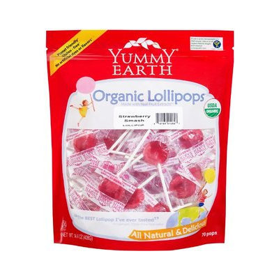Yummy Earth Organic Candy Drops Gluten Free Strawberry Smash