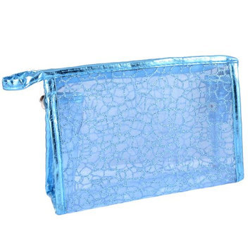 Uxcell Stone Block Print Mesh Makeup Bag
