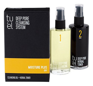 Tu'el Deep Pore Cleansing Duo Moisture Plus Cleansing Oil & Herbal Toner for Dry Skin