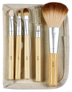 Danielle Naturally 5 Piece Bamboo Makeup Brush Set with Case
