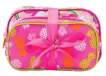 Danielle Enterprises Macbeth Pina Colada 2 Piece Cosmetic Bag Set