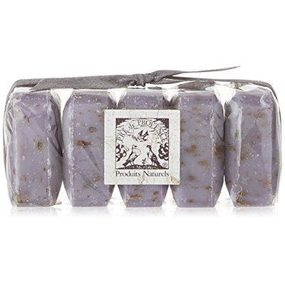 Pre De Provence Shea Butter Enriched Guest Soap Gift Set in Cello Wrap - Includes Five 25 Gram Soaps - Lavender