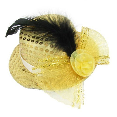 Uxcell Mess Bowknot Decoration Lady Top Hat Alligator Hairclip