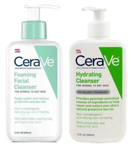 CeraVe Foaming Facial and Hydrating Cleanser