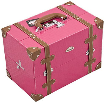 Craft Accents Trimming 2-Tiers Trays Professional Cosmetic Makeup Case