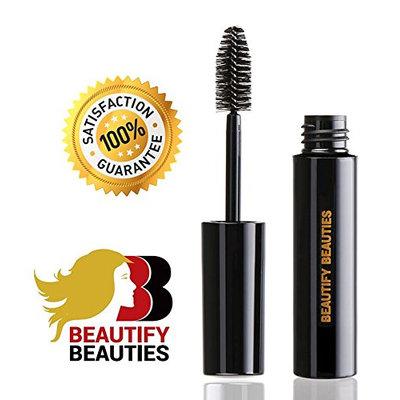 Beautify Beauties Black Volumizing Mascara - Best Eyelash Enhancer Voluminous Mascaras for Promoting Fuller Luscious Lashes - A Unique Formula That Lengthens and Curls Your Lashes