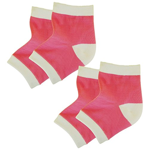 Bodiance Gel Heel Socks for Moisturizing Repair & Healing of Cracked